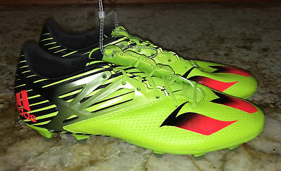 0a3d71542 ADIDAS Messi 15.2 FG   AG Soccer Cleats Lime Green Black Solar Red NEW Mens  8.5