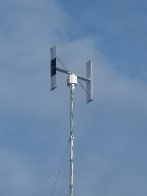 VAWT Darrieus Vertical Axis Wind Turbine with 3 phase axial flux generator