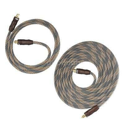 Premium Optical Digital Audio Cable Lead Cord Toslink SPDIF 24k Gold Plated V1Q7