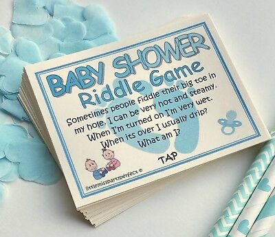 Baby Shower Games Boys Riddle Cards Funny Adult Humour