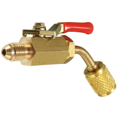 R134a R410a Brass Shut Valve For A/C Charging Hoses HVAC 1/4inch Cooling tube SA