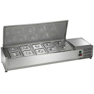"Arctic Air ACP55 10-Pan 55"" Counter-Top Refrigerated Prep Station Topping Rail"