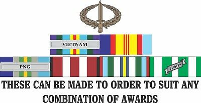 Vietnam Campaign  Ribbons Made To Order Vinyl Uv Laminated Stickers 87Mm X 200Mm