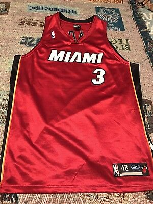 8baeb24dd DWYANE WADE MIAMI Heat Authentic Jersey Reebok Throwback Vintage NBA ...