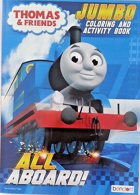 Thomas and Friends JUMBO COLORING BOOK Kids Young Adults TEAR AND SHARE