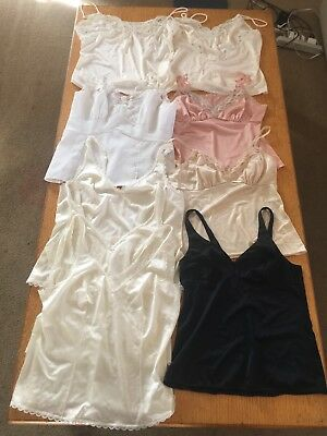 25 Vintage slips camisoles from 1950's 1960's - Nice Lot