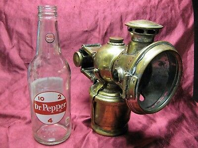 Vtg Antique 1902 Lucas Acetyphote 317 Motor Cycle Miner Carbide Head Light Lamp