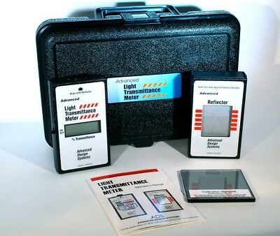 ADVANCE DESIGN SYSTEMS Deluxe Window Tint Meter  NYS Compliant