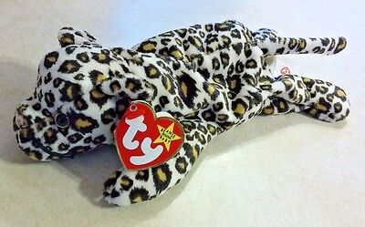 Freckles The Leopard 1996 Ty Beanie Baby Style 4066 Unique Malformed Nose