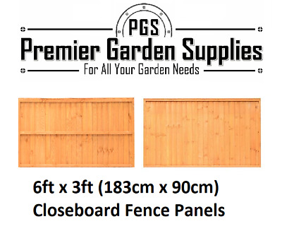 Brand New 6 ft x 3 ft Larch Lap Fence Panel Garden Wooden Fencing RRP £20