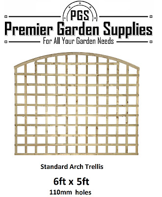 6x5 Concave Standard Trellis Fence Topper Lattice TREATED RRP £40