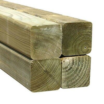 75x75x1800mm 3x3 Treated Fence Posts 6ft Length Multiple Sizes Available