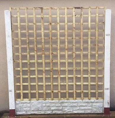 6ftx6ft Heavy Duty Square Trellis Fence Lattice Partition Garden TREATED