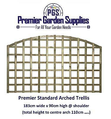 6X4 HEAVY DUTY Arched Dome Trellis Fence Topper Lattice RAW Wood RRP £35