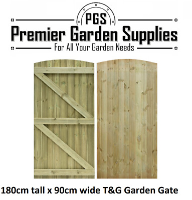 New Tongue & Groove Semi Braced Strong Garden Gate Driveway Fence Wood Timber