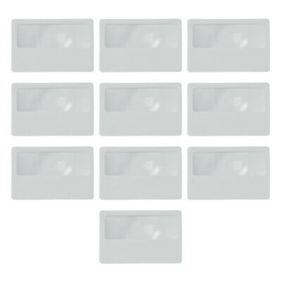 10 x Credit Card Magnifier Magnifying Glass Sheet Lens Reading Glasses Aid Mini