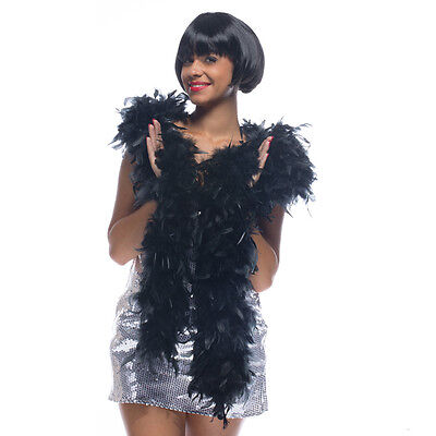 Boa thick feathers black length 2m weight 150g pinup sexy burlesque pinup