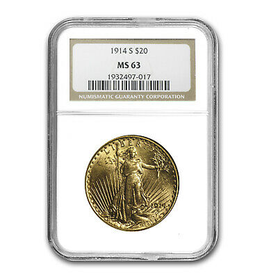 SPECIAL PRICE! $20 Saint-Gaudens Gold Double Eagle MS-63 NGC (Random Year)