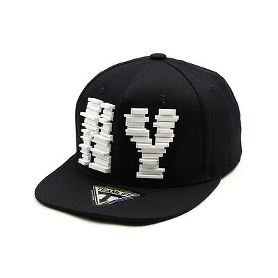 24a8b7640 Unisex Mens Teamlife NY New York Block Baseball Cap Snapback Hats All Black