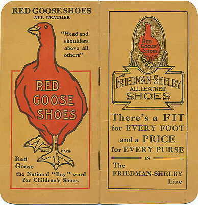 Vtg Red Goose Shoes Memo Book / Advertising / Friedman Shelby Shoess