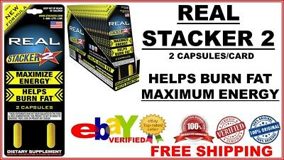2x Pack ( Stacker 2 REAL Maximize Energy ) Helps Burn Fat Diet Boost Loss 4 CAPS