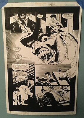 Original Batman Comic Artwork - Gotham Knight #28 Page 19  SignedRobinson/Floyd