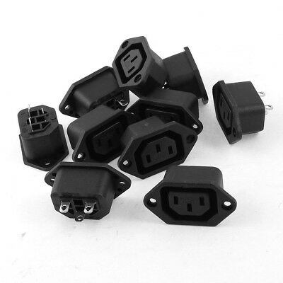 10 Pcs IEC 320 C13 Screw Type Power Socket Connector AC 250V 10A SA