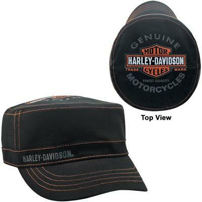 Harley Davidson Trademark Bar   Shield Womens Painters Cap Baseball Hat  pc31230 7ed7a0259510