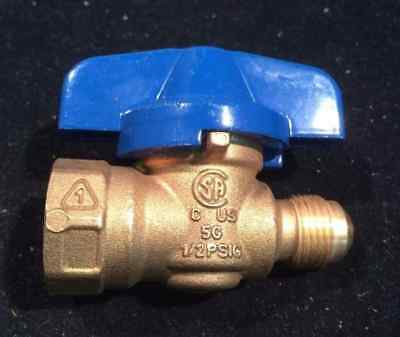 "BUGATTI 1WMC7 Brass Gas Ball Valve, FNPT x Flare, 1/2"" x 3/8"" Pipe NEW!! #21B"