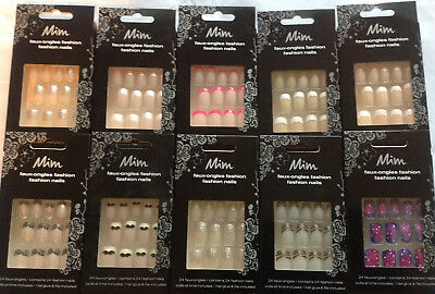 Mim False Nails - Choose Your Design With Glue and File, 60% Off When You Buy 2