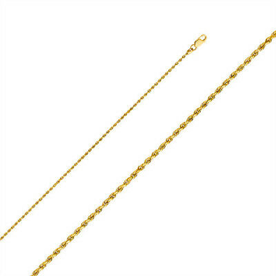 Solid 10k yellow gold Chain Necklace Rope chain Cable chain 10kt gold 1.5mm