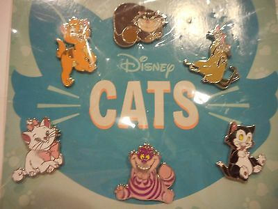 Disney Cats Booster Set Lot Of 6 Disney Pins *****SEALED NEW*****