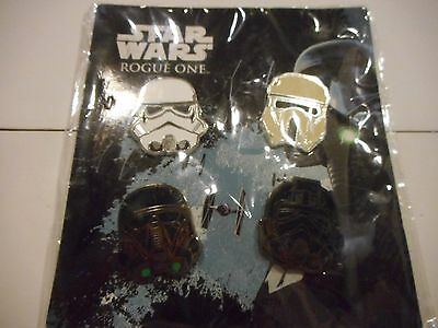 Star Wars 2016 Rogue One Booster Set Lot Of 4 Disney Pins *****SEALED NEW*****