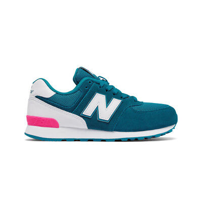 sale retailer 2438d d4831 Kids New Balance 574 Teal   KL574CJG   GS Girls Youth Pink White High  Visibility