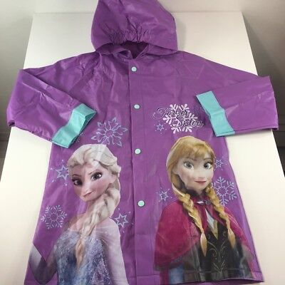 Kids Disney Frozen Hooded Rain Coat Jacket Anna Elsa Waterproof Youth Toddler