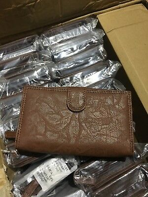 48 Ladies Brown Purses Wholesale Clearance Bankrupt Market Car Boot Stock