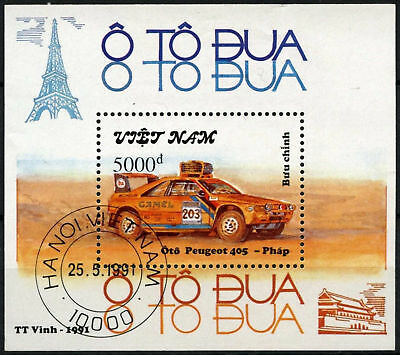 Vietnam 1991 SG#MS1598 Rally Car Peugeot 405 Cto Used M/S #D59725