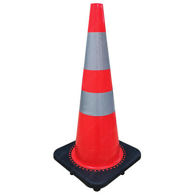 "Traffic Cones - Road Safety - Orange - 18 to 36"" Heights - Electriduct"