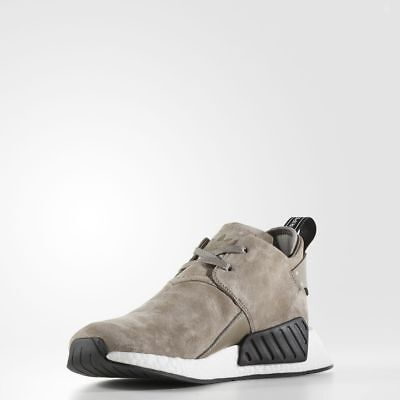 6a7e9c8c2 Adidas NMD C2 Suede Simple Brown   BY9913   Men Chukka Nubuck Boost White  Black