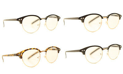 c75fd9efe8 Round Browline Reading Glasses 4 Color Choice Malcolm X Readers 1.25 1.505  2.00