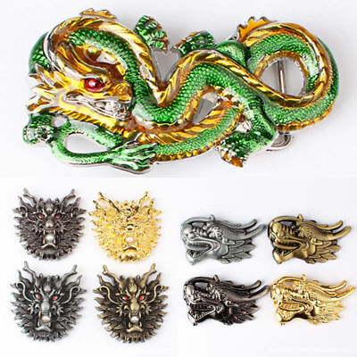 11 Type Ethnic Style China Dragon Alloy Pin Buckle For 38-40mm Belt Men Gift AU