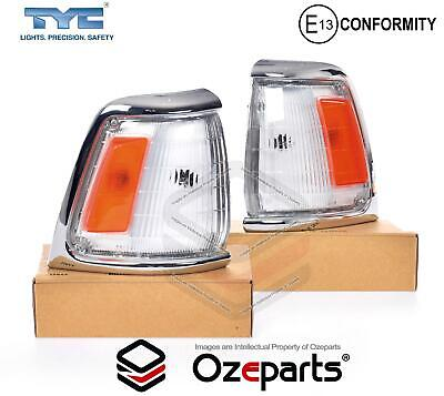 Pair LH+RH Corner Light Indicator Lamp Chrome For Toyota Hilux 1988~1991 2WD