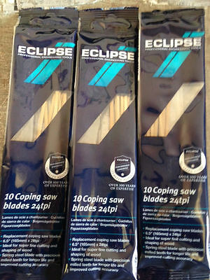 30 Eclipse Coping Saw Blades For Wood