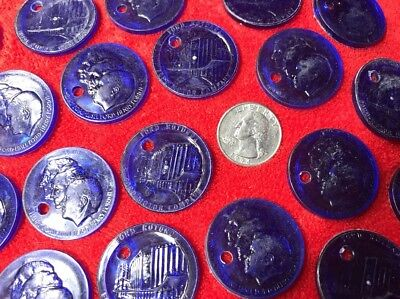 Lot of 20 Vintage Blue FORD ROTUNDA Tokens Ford Motor Co. Survived By 1962 Fire