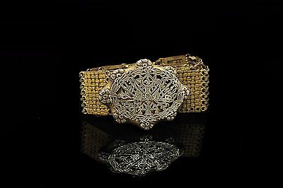 Antique Original Silver Gold Plated Ottoman Islamic Amazing Filigree Lady Belt