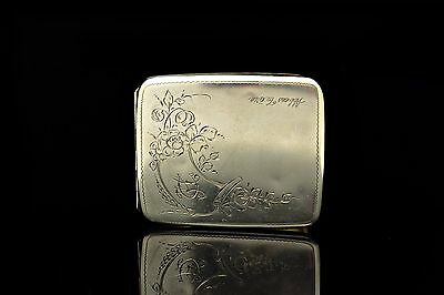 Antique Original Silver European Amazing Cigarette Case