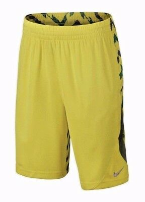 Nike Youth Shorts Avalanche Wrap Around Neon Yellow Green Dri Fit Boys XL NWT