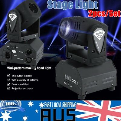 2pcs 50W LED RGBW Moving Head Stage Light DMX512 Disco DJ Party Effect Lights