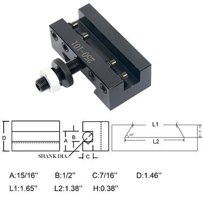 Quick Change Tool Holder, AXA Turing and Facing Holder, #250-101