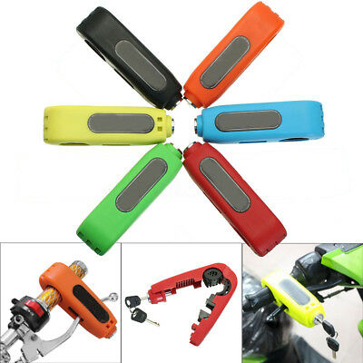 Motorcycle Caps-Lock Scooter Handlebar Grip Brake Lever Anit Theft Lock Security